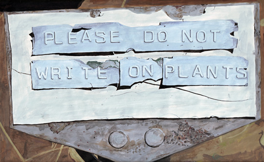 do not write on plants